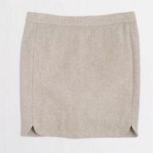 J CREW Wool Shirttail Mini Skirt Stone Tan New 8